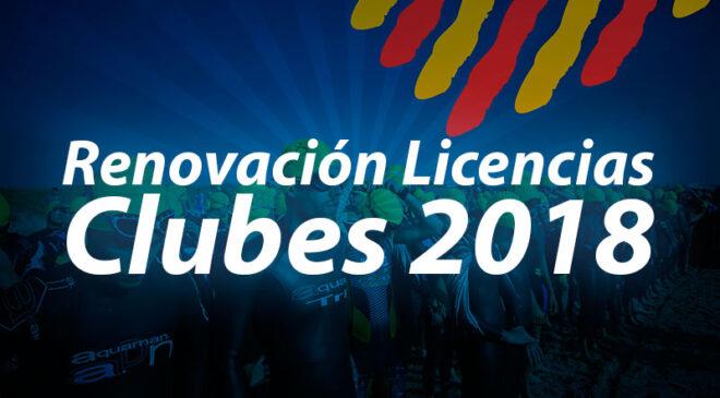 Abiertas licencias para clubes 2018 y licencias escolares para 2017-2018.