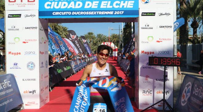 Santiago Juan y María Jesús Sánchez campeones autonómicos de Duatlón Cross.