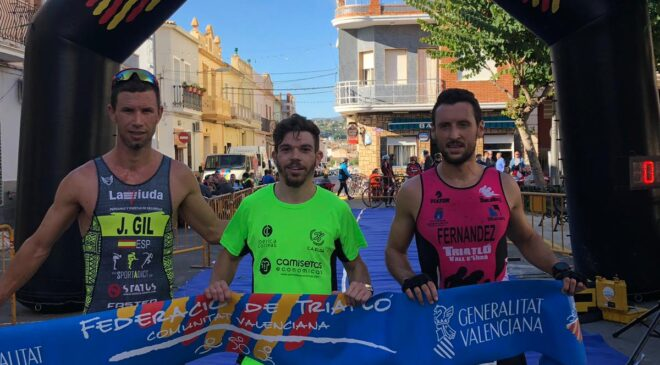 María Jesús Sánchez y Joan Torres vencen en el Duatló Cros d'Alfap