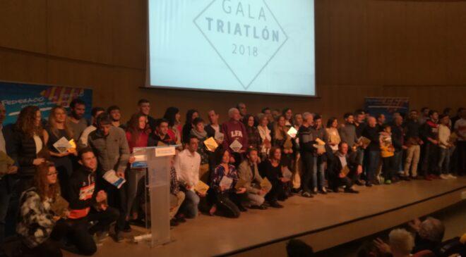 Entregados los premios de la temporada 2018 en la Gala Anual de Triatlón