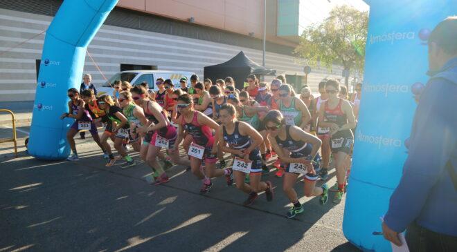Noelia Juan y Jesús Gomar campeones autonómicos de duatlón sprint