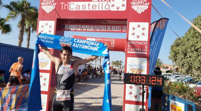 Sonia Ruiz y Guillem Segura campeones autonómicos de acuatlón