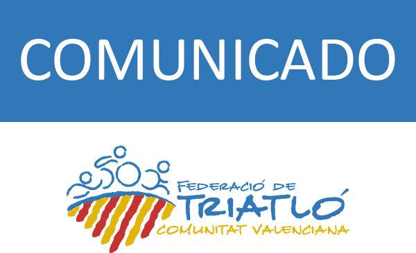 Actualización competiciones mes de mayo Comunidad Valenciana