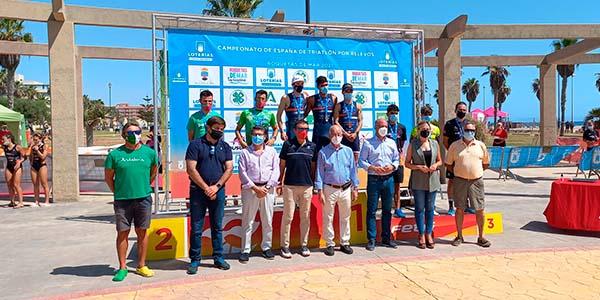 UA Triatló, campions d'Espanya de Triatló Relleus a Roquetas De Mar
