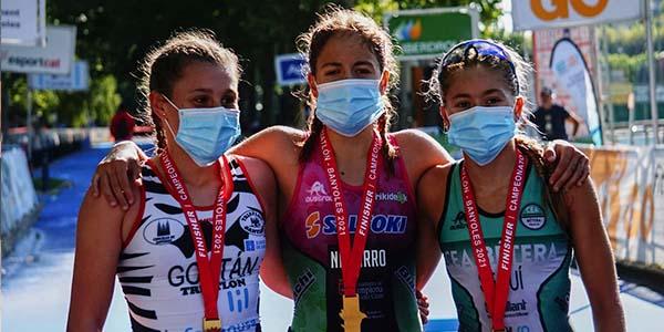 Cap de setmana de podis per als nostres triatletes al Campionat d'Espanya de Triatló de Banyoles
