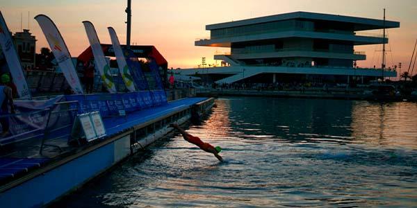 Turno hoy para la distancia reina del triatlón en el Campeonato de Europa de Triatlón de València